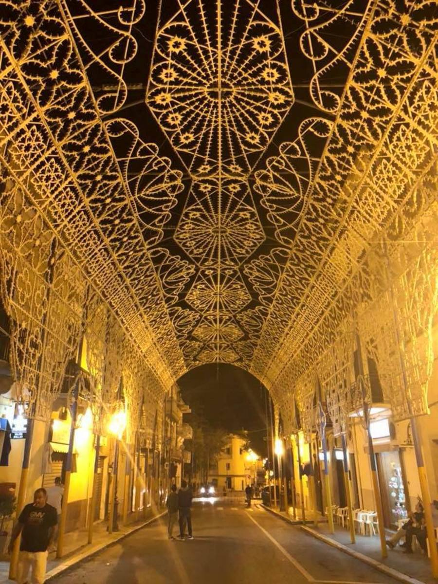 Every year for there days they have this Madonna feast in Genzano, with special bands street lighting and fireworks.