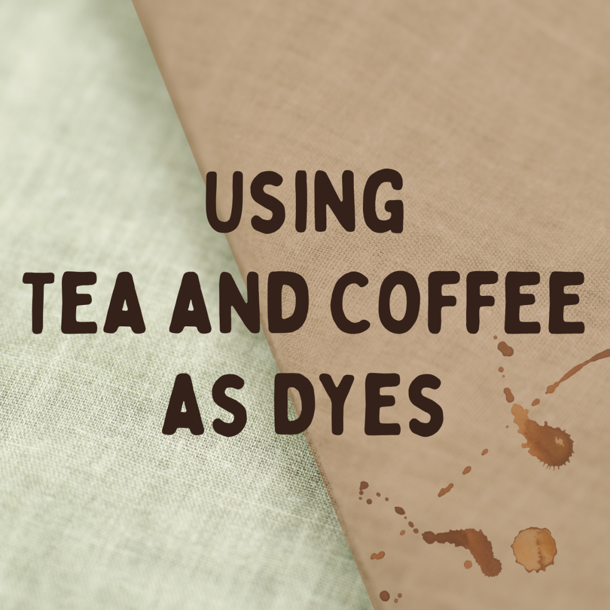 Did you know that coffee and tea make effective dyes and stains? Learn how to use these substances in your crafting.