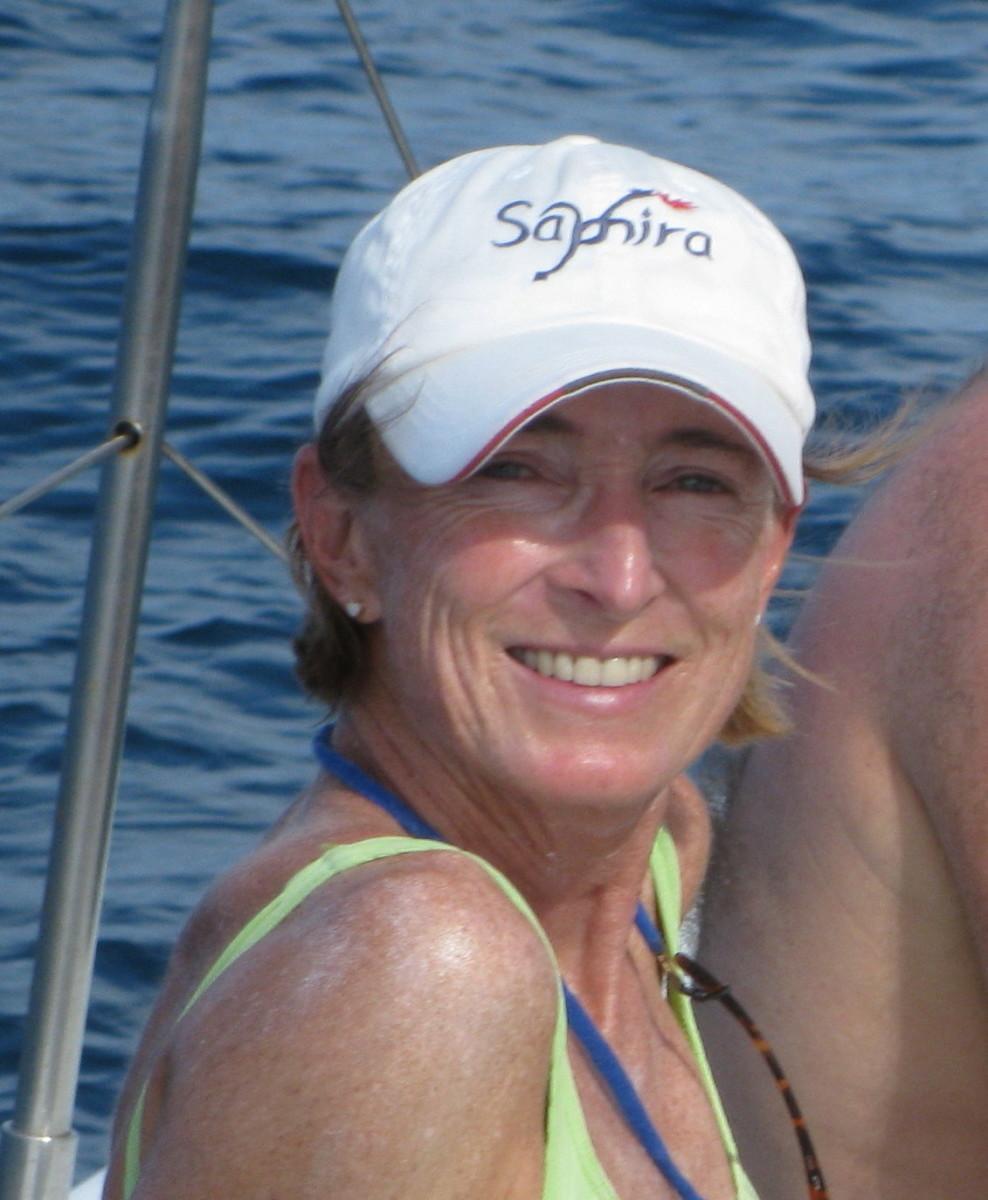 Dr. Jennifer Francis, photographed in a marine scientist's natural habitat.  Image courtesy Rutgers.
