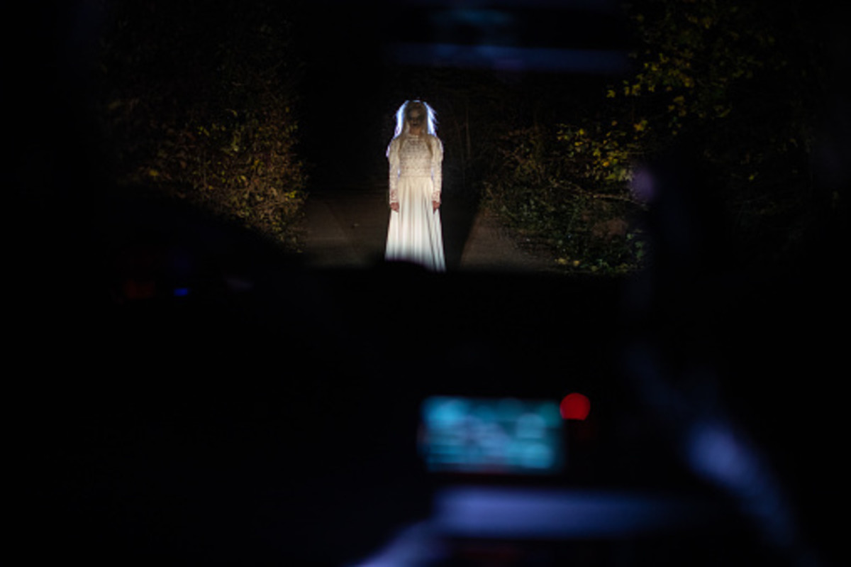 A phantom bride is rumored to haunt the area where she drew her last breath.