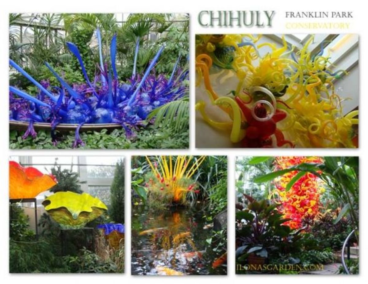Chihuly scultures