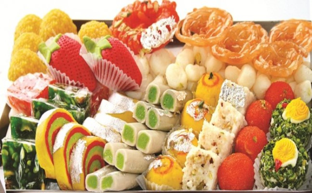 Delicious and authentic sweets are prepared at home.