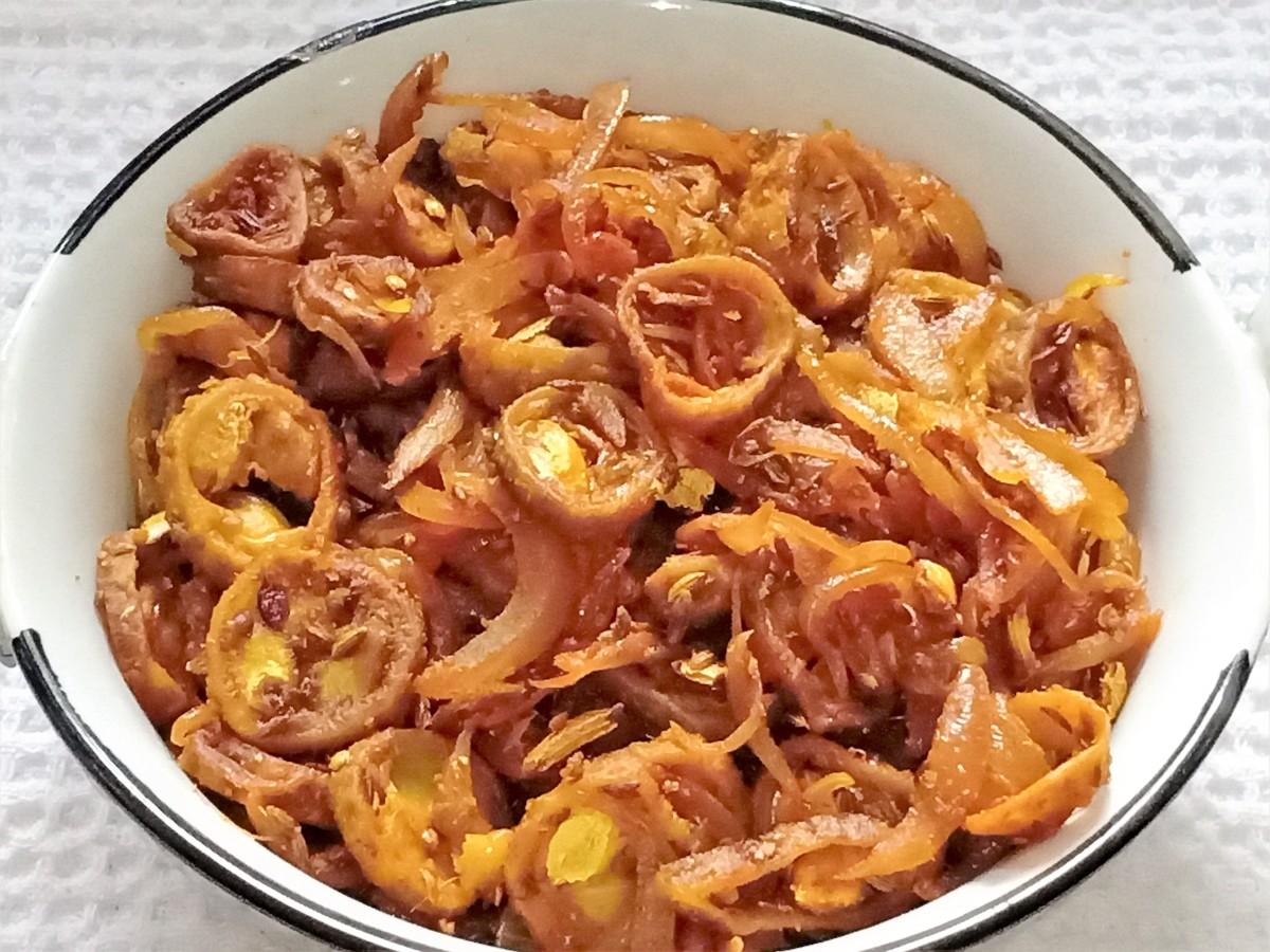 Karele ki sabji (bitter gourd curry)