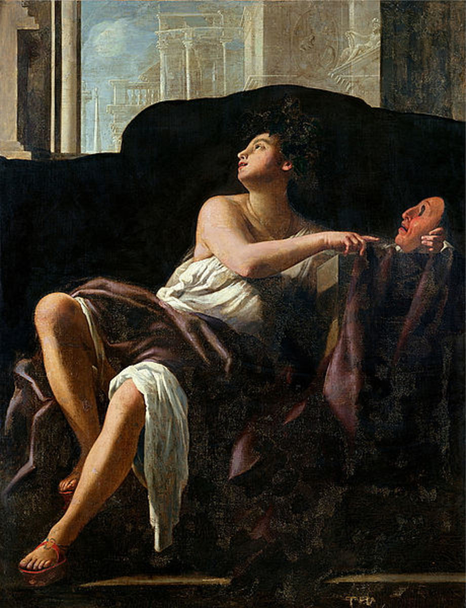 Thalia, Muse of Comedy - Giovanni Baglione (1566–1643) - PD-art-100
