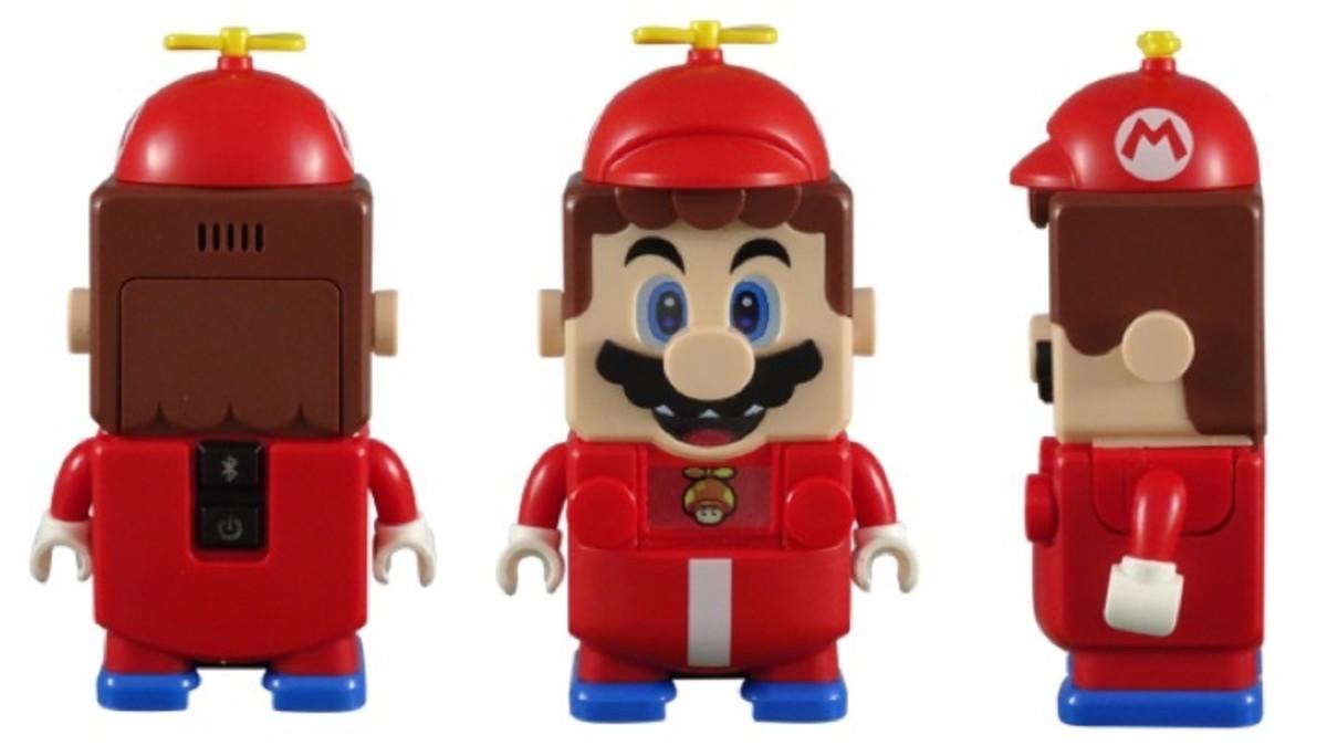 LEGO Mario Figure with LEGO Super Mario Propeller Mario Power-Up Pack 71371