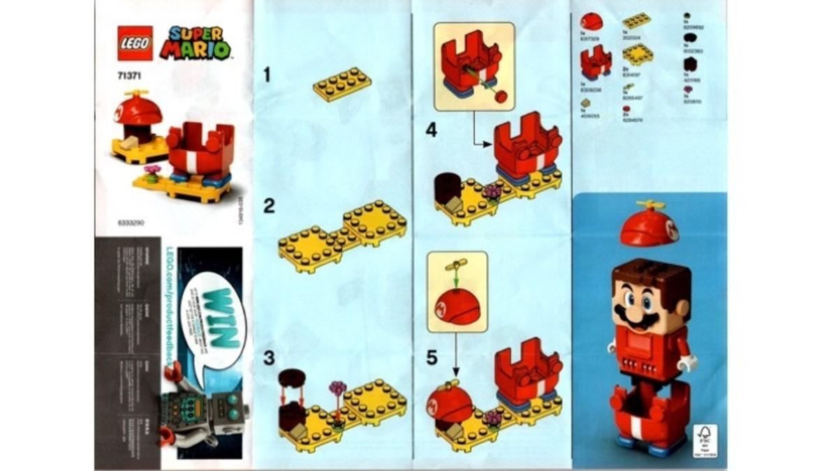LEGO Super Mario Propeller Mario Power-Up Pack 71371 Instructions
