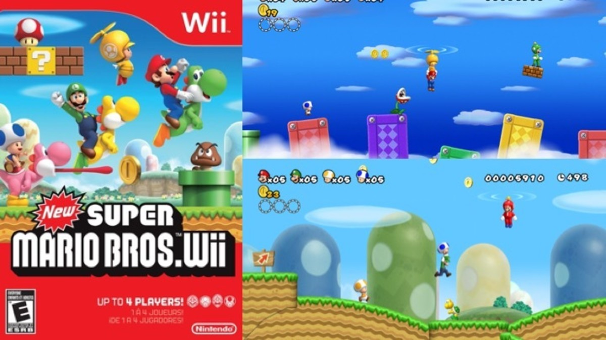 The New Super Mario Bros. Wii Box and Propeller Suit Game Play