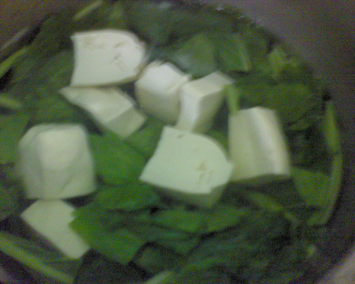 add in tofu into soup