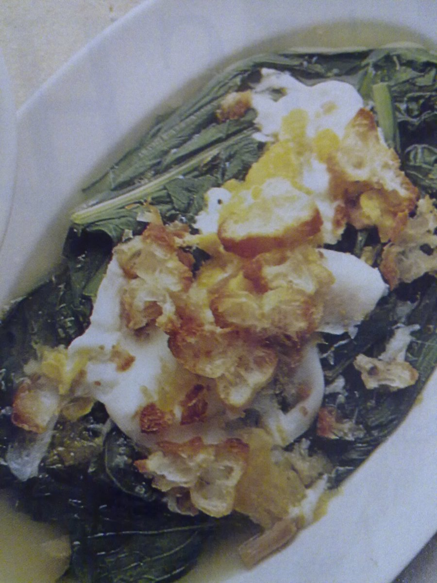 Mustard Green with Egg Sauce