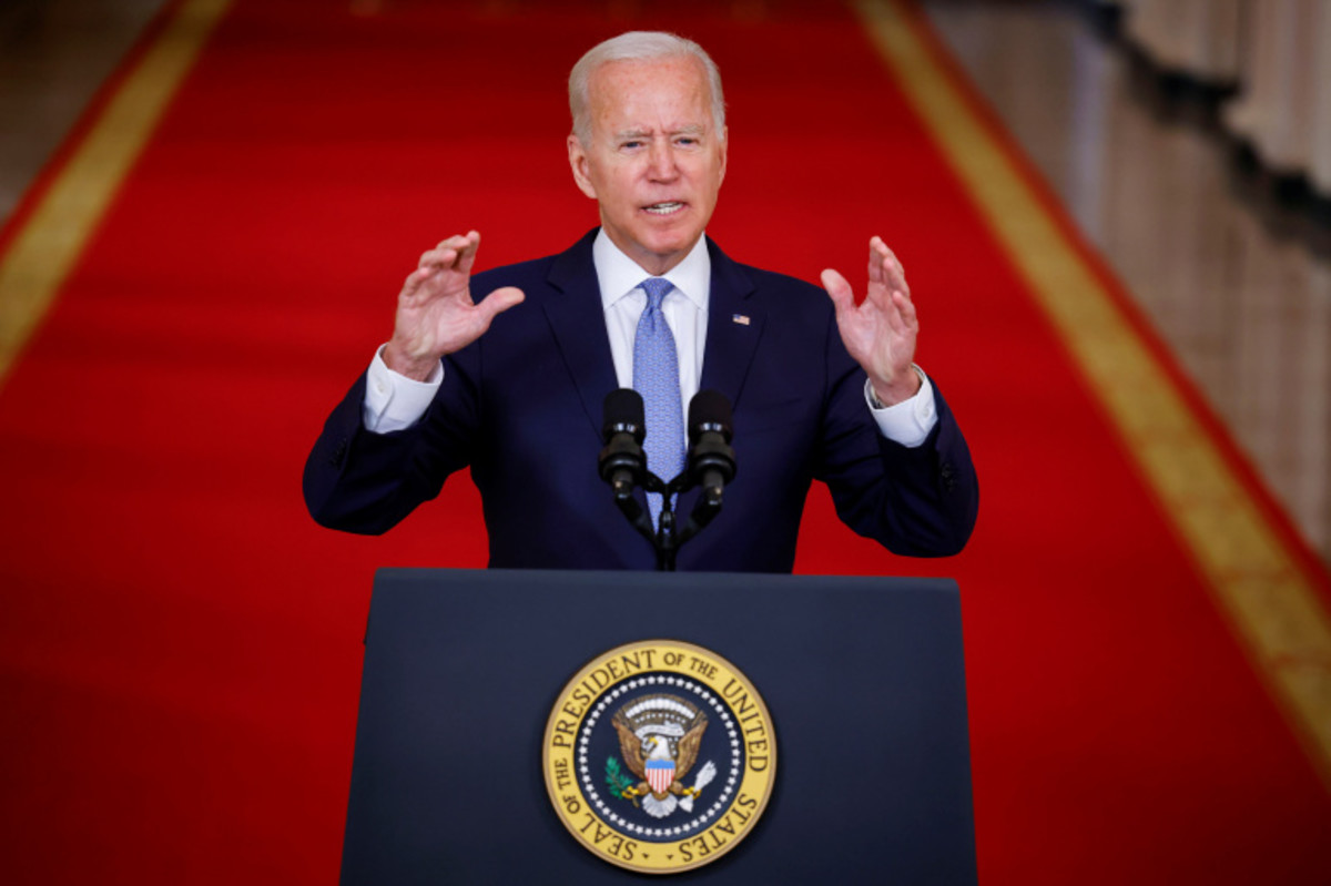 President Biden responding to Journalist on Withdrawal of Forces