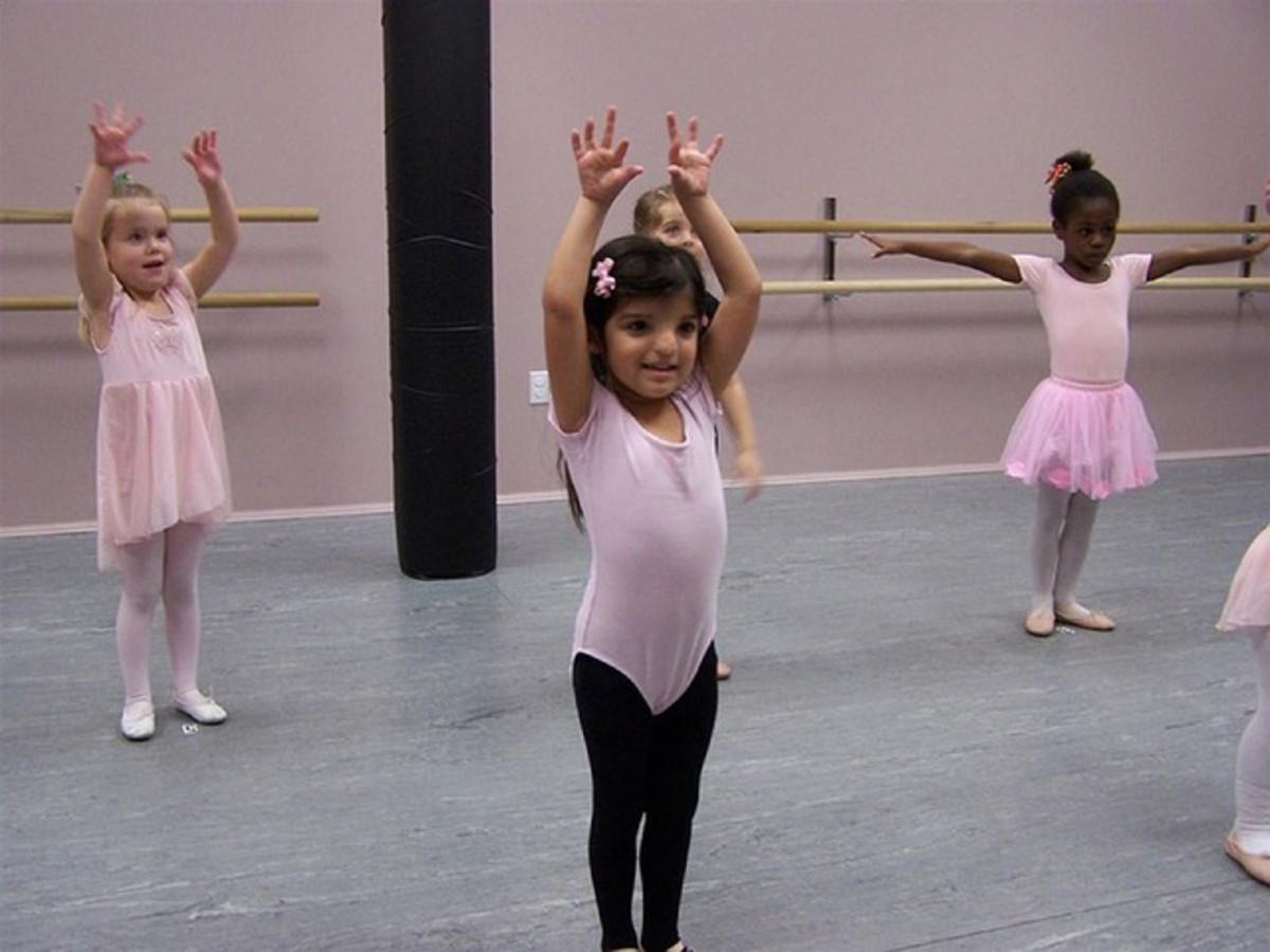 A children's dance studio