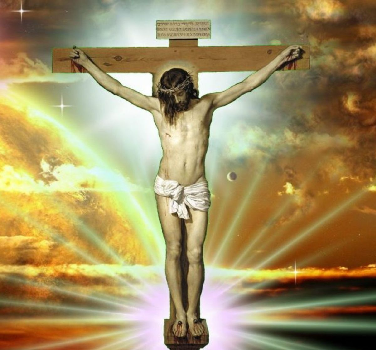 This is just one of the picture of Jesus Christ on the cross. The religious world wants us to believe that Jesus was born to be the lamb of God that would sacrifice himself  to take away the sins of the world. But is this what God really wanted?