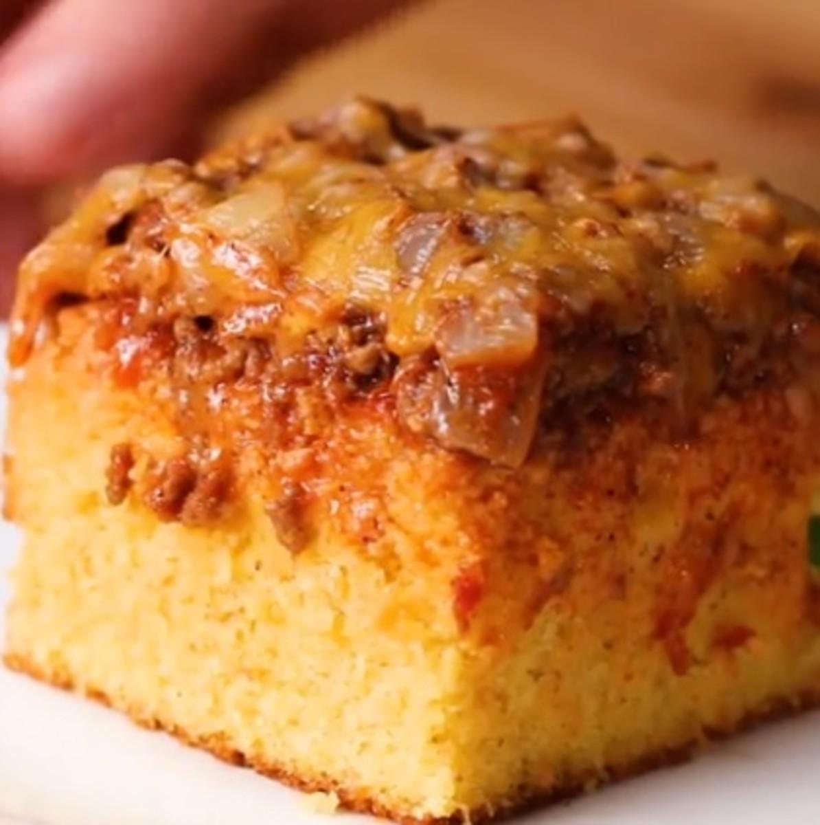 Chili Cheese Cornbread Poke Cake