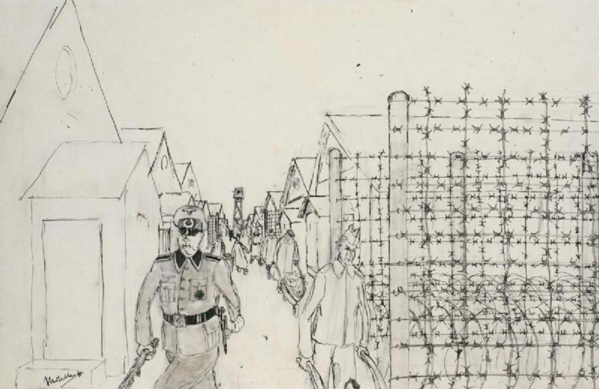 德国战俘营的外观,1941年