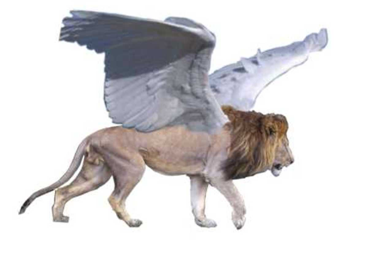 Lion= Great Britain Wing= U.S.A