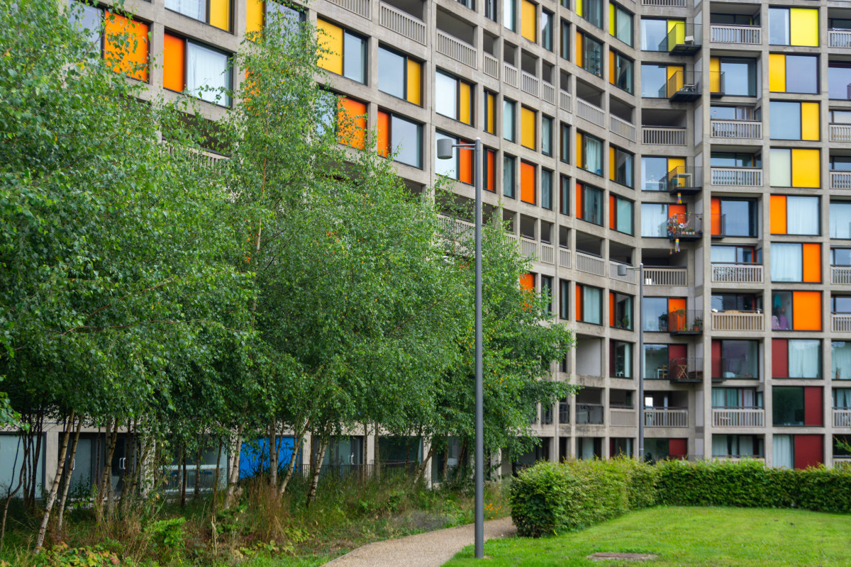 Refurbished section of Park Hill Flats for private sale