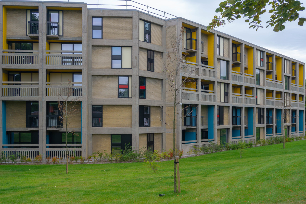 The Beton: part of the site refurbished into student accommodation
