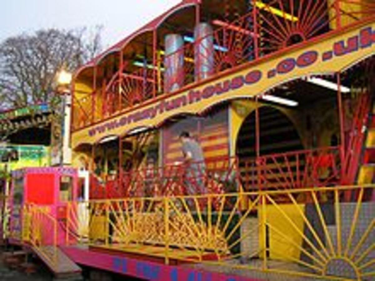 Funhouse ride at Malton Fair