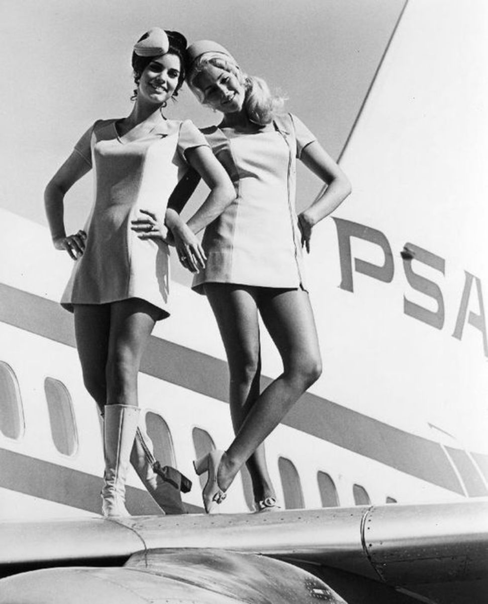 Airlines raised the bar for fashionable hats in the workplace.