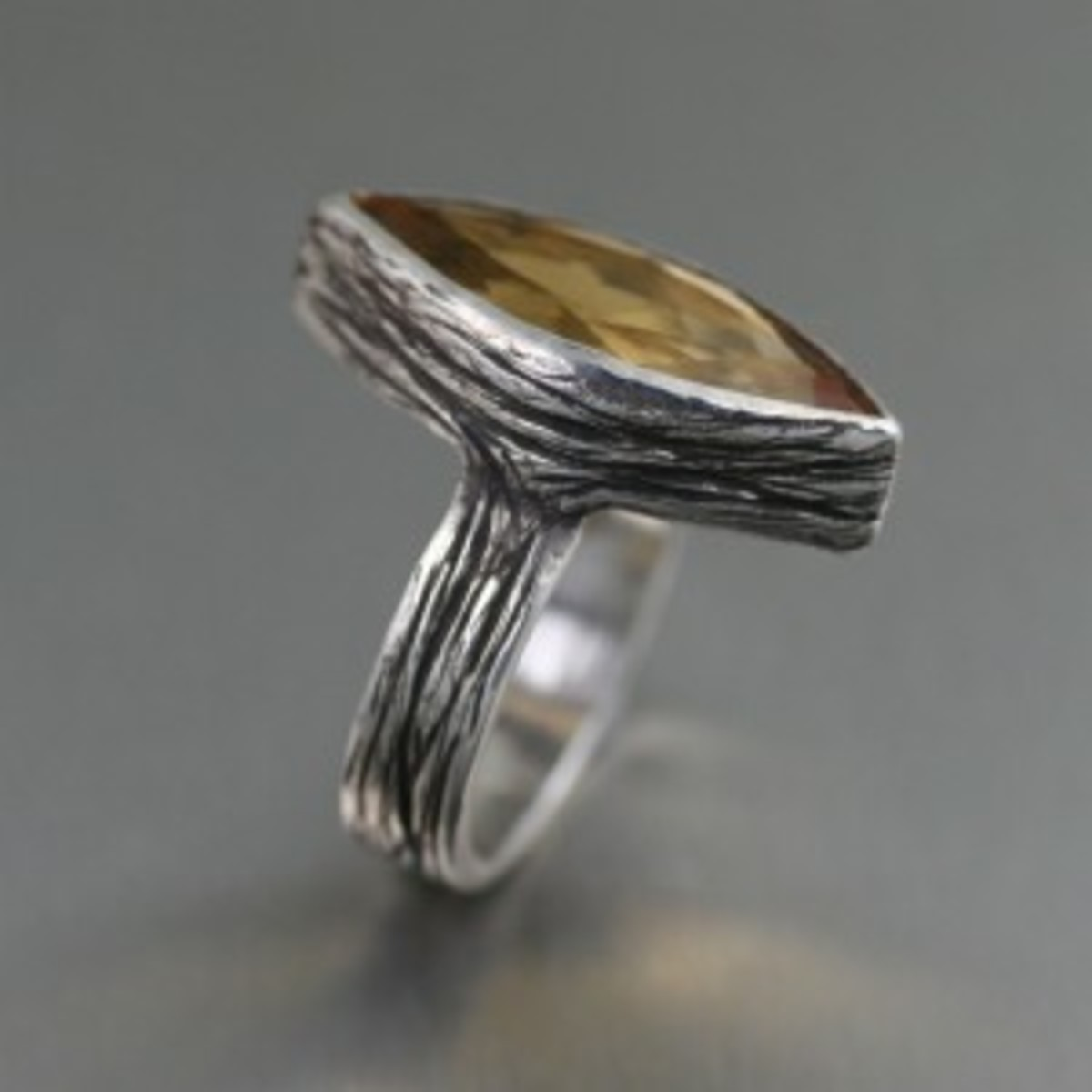 Citrine Sterling Silver Cocktail Ring