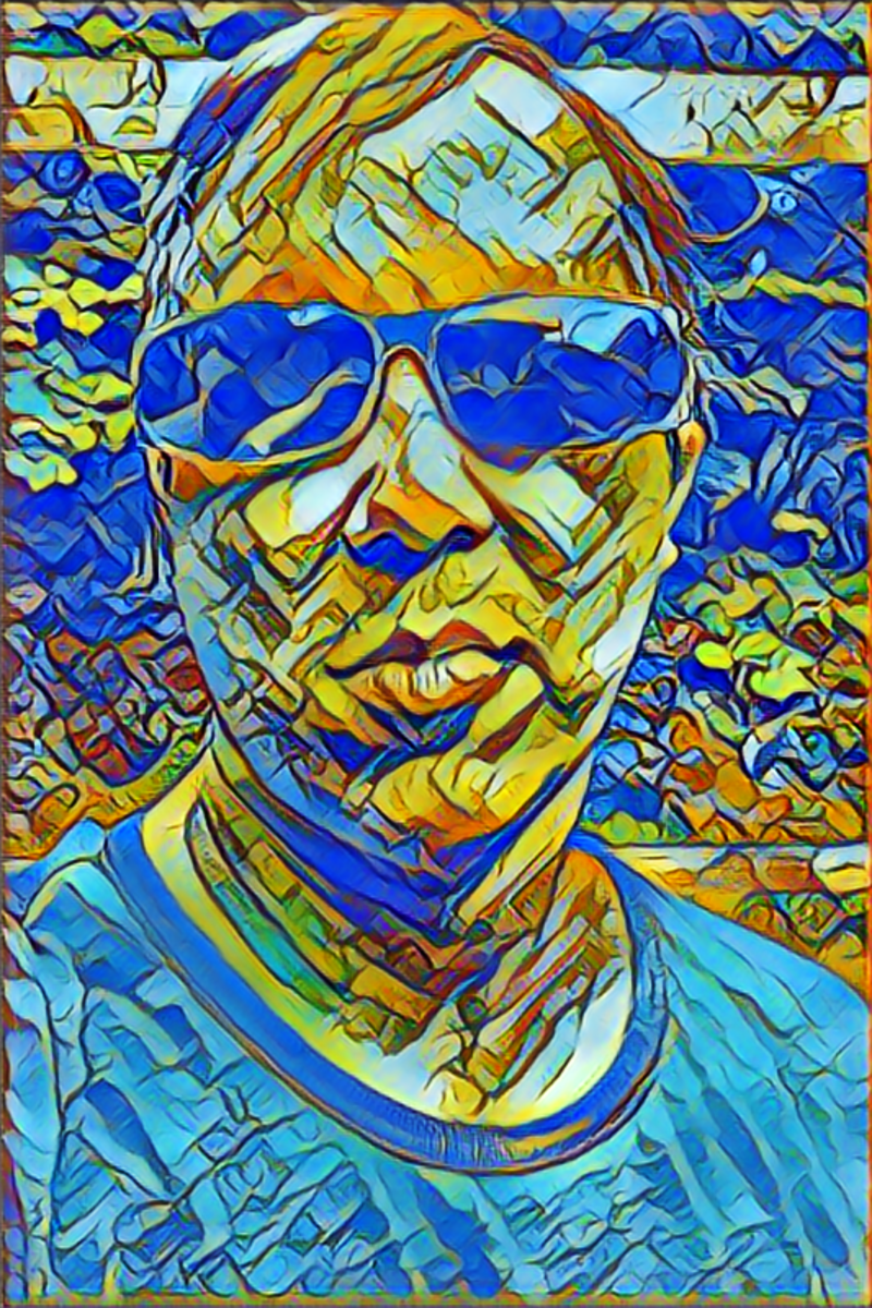 Art generation with deep learning. In the style of a stained glass window.