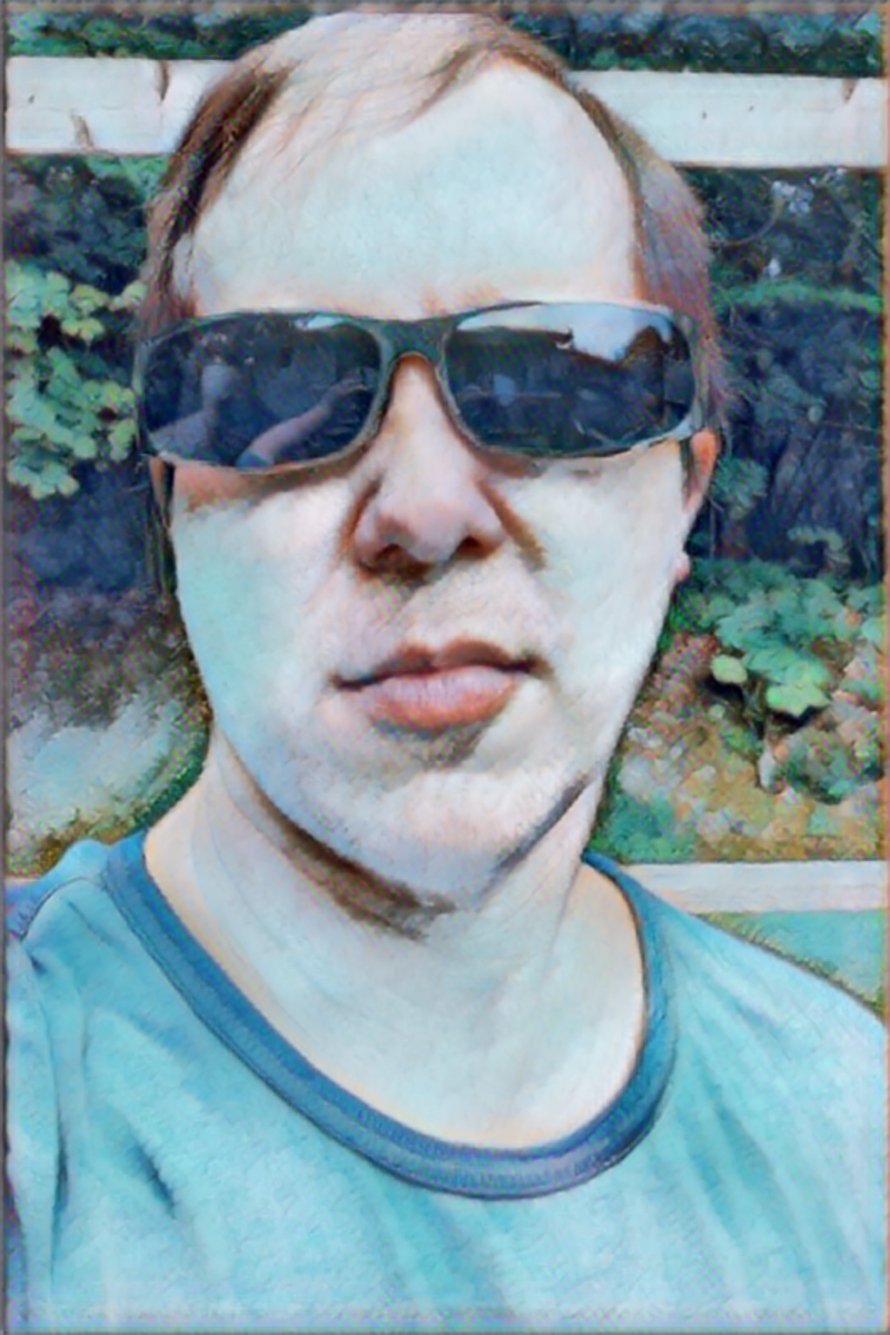 Selfie to renaissance painting using fast AI style transfer.