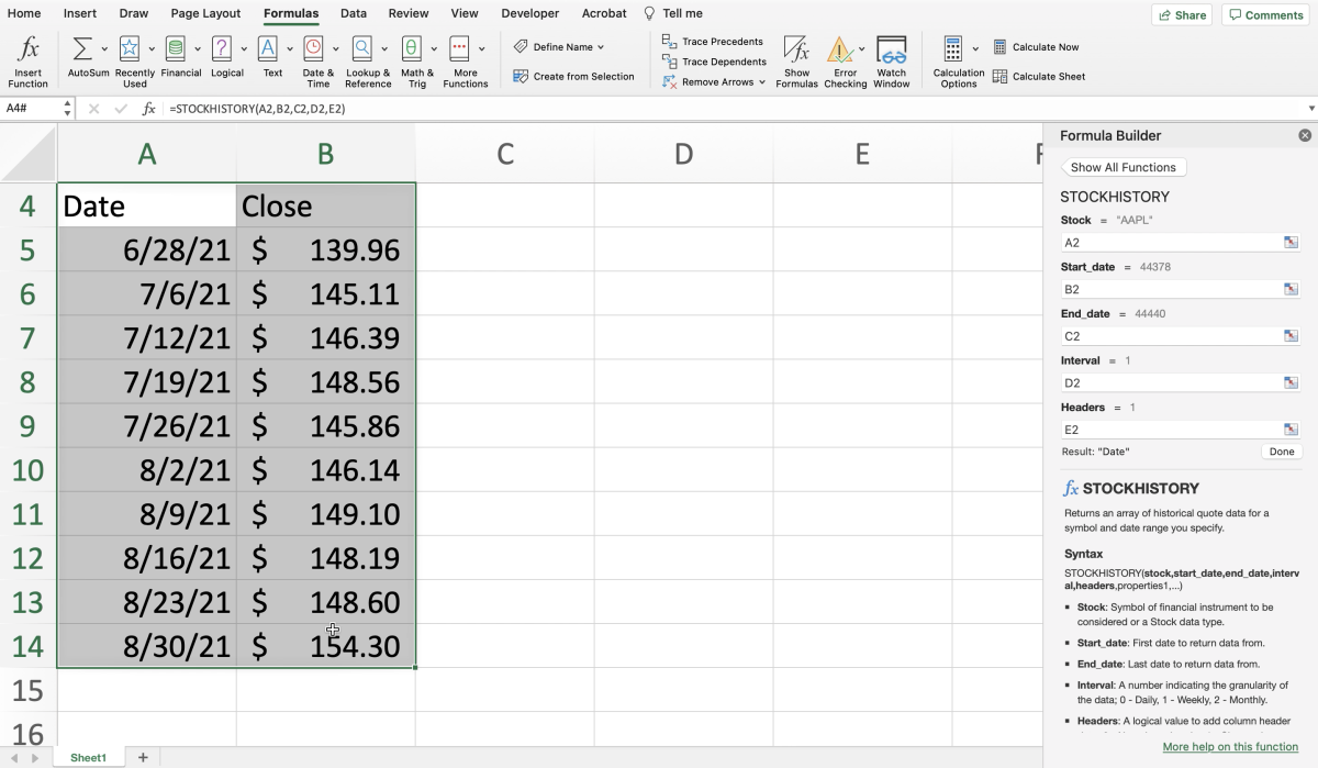 using-the-stockhistory-function-of-excel-to-display-stock-data-on-a-mac
