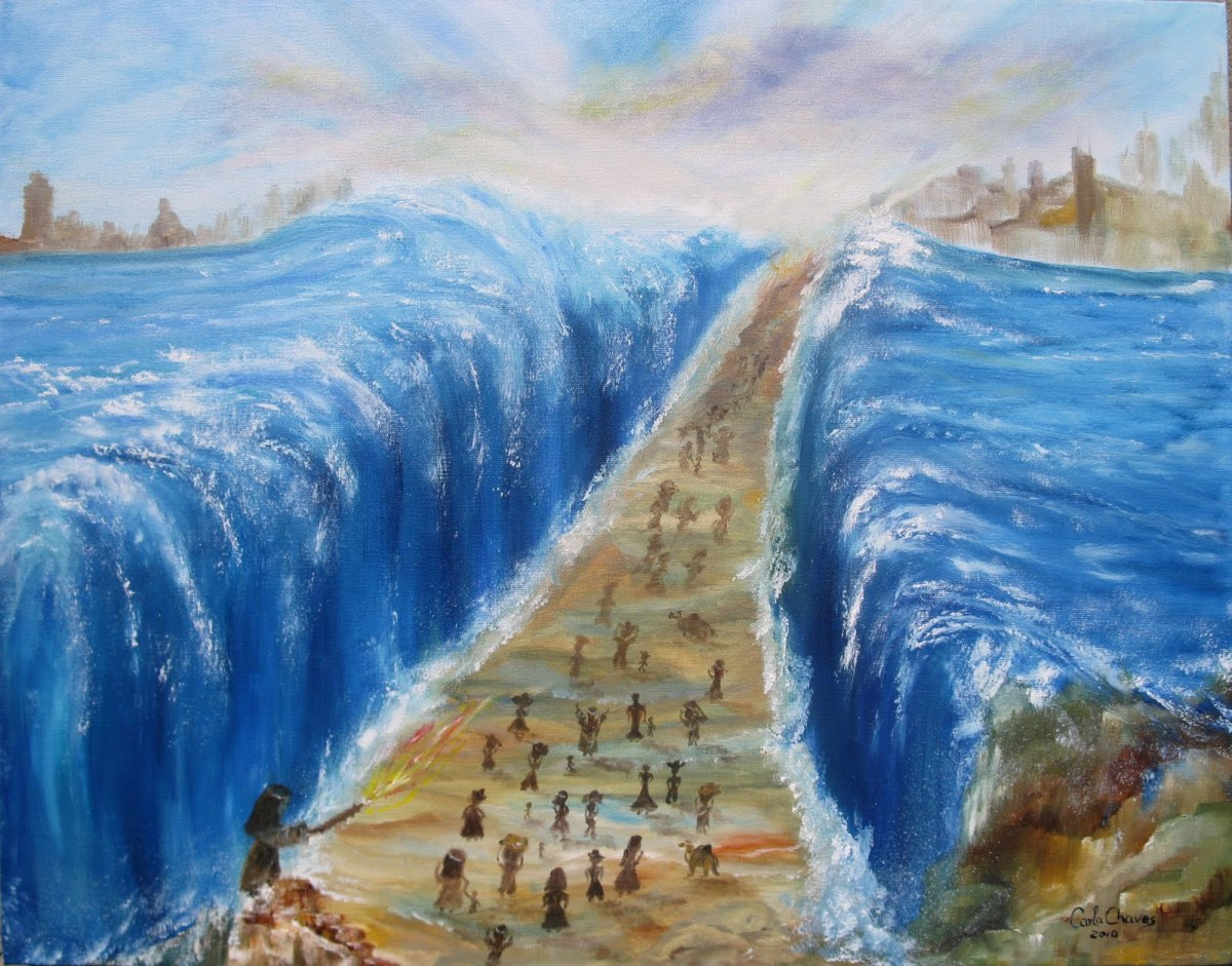 This is one of the photos from a film of The Red Sea crossing. But while it is great to believe in the power of Almighty God, it may also give rise to some doubt whether this event has really happened the way that is shown in the film.