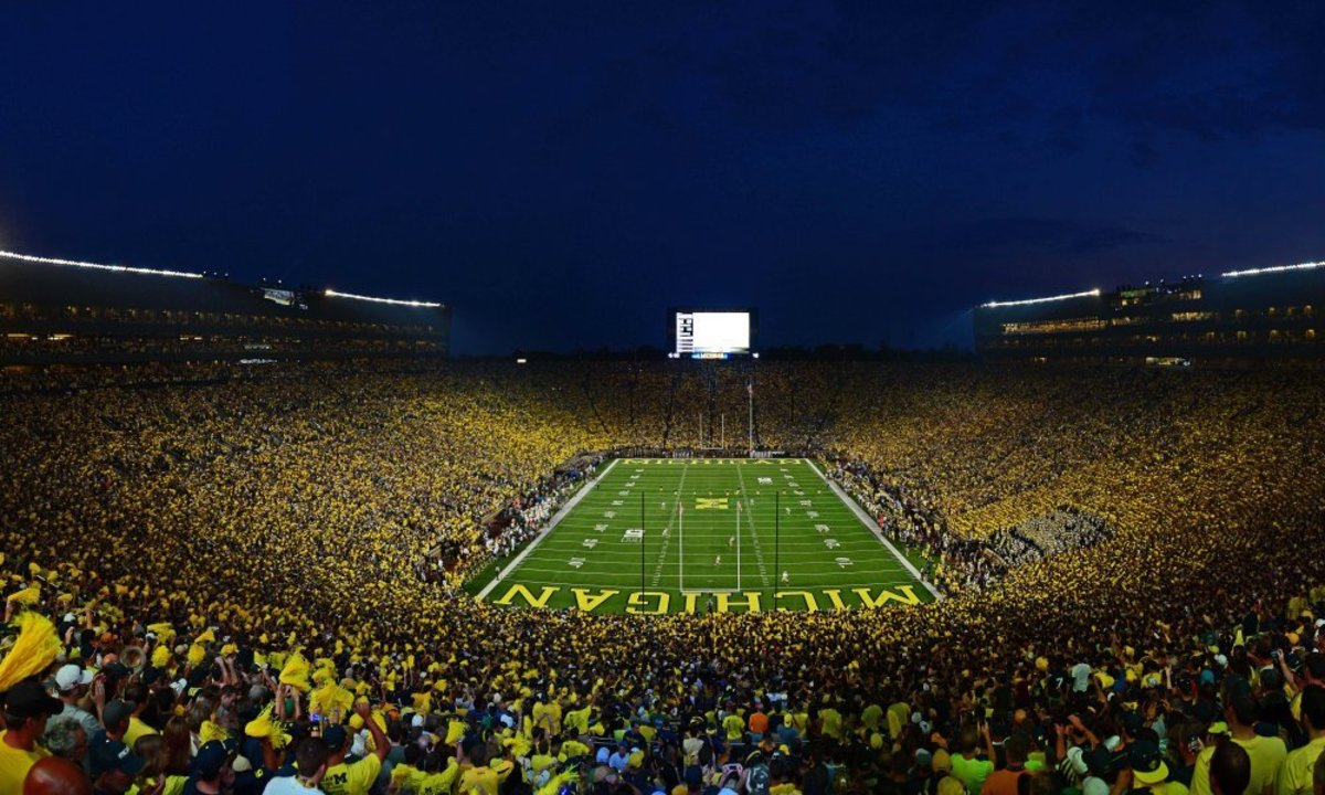 """""""The Big House"""" home to the Michigan Wolverines."""