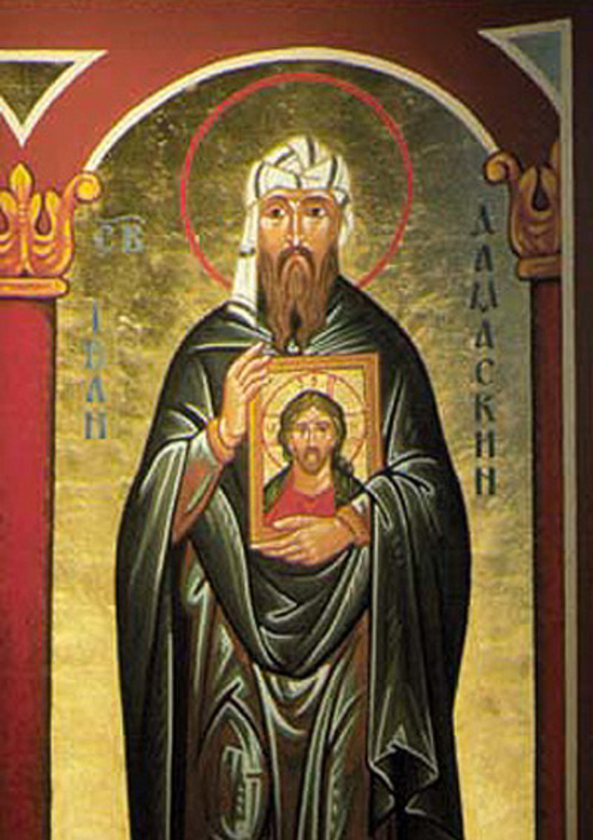 JOHN OF DAMASCUS (JOHN THE DAMASCENE) FROM CHURCH IN UKRAINE