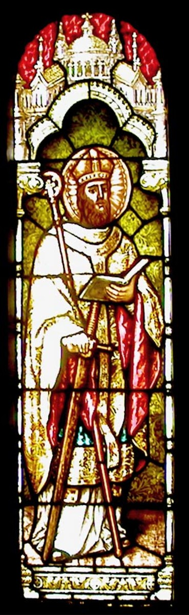 ST BONIFACE (STAINED GLASS IN SAN FRANSISCO DATED 1908)