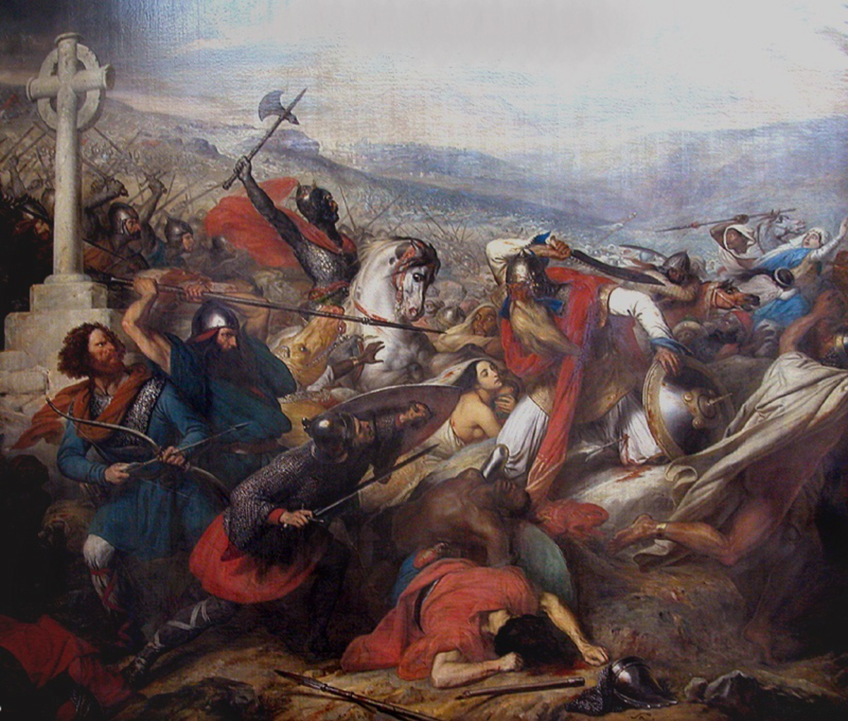 "CHARLES ""THE HAMMER"" MARTEL (PAINTING ""BATTLE OF TOURS"" BY CHARLES DE STEUBEN DATED 1837)"