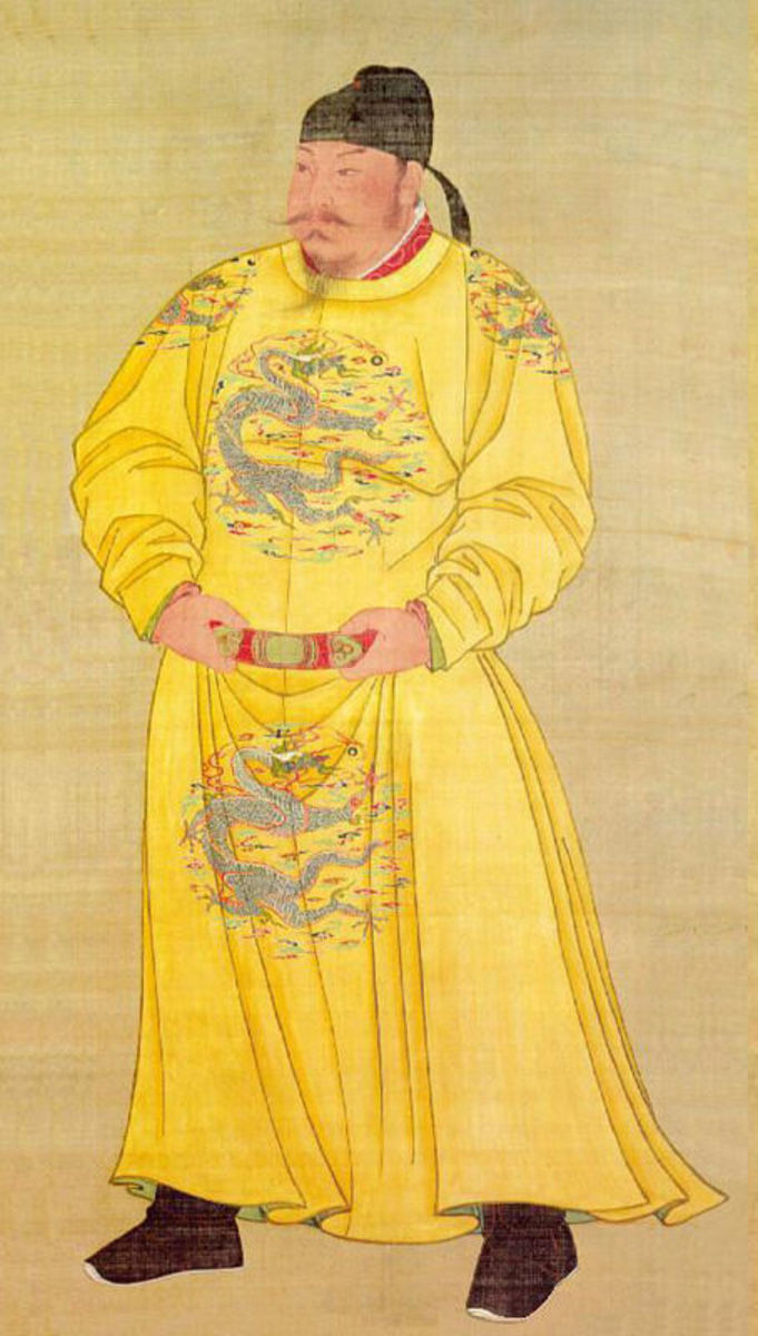 EMPEROR OF CHINA T'AI-TSUNG (TANG TAIZONG) IMAGE DATED 638 AD