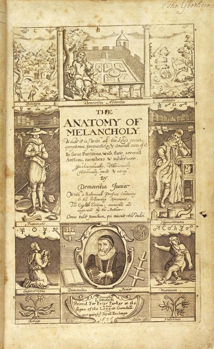 The eighth edition of Robert Burton's The Anatomy of Melancholy.