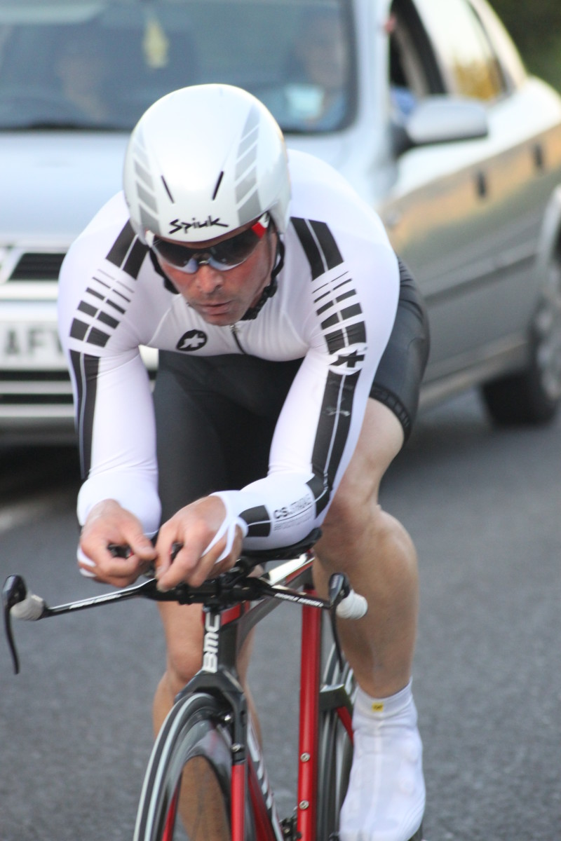 Time trial cycling requires strongly developed muscular endurance from turbo training.