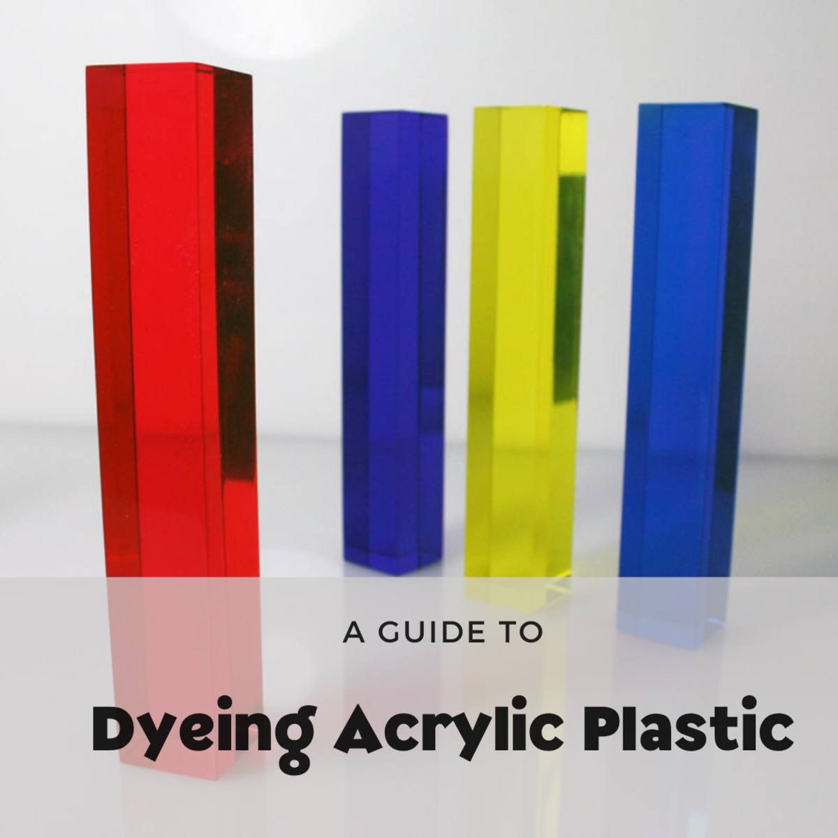 This article describes the process of dyeing acrylic plastic like Plexiglass and Lucite in addition to utilizing dye baths to color the acrylics. The main focus will be on dip and immersion dyeing.