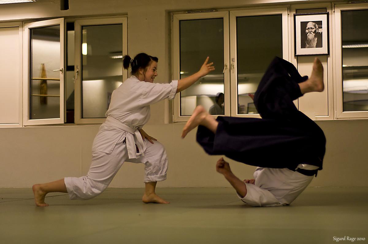 Kaiten Nage in Aikido -