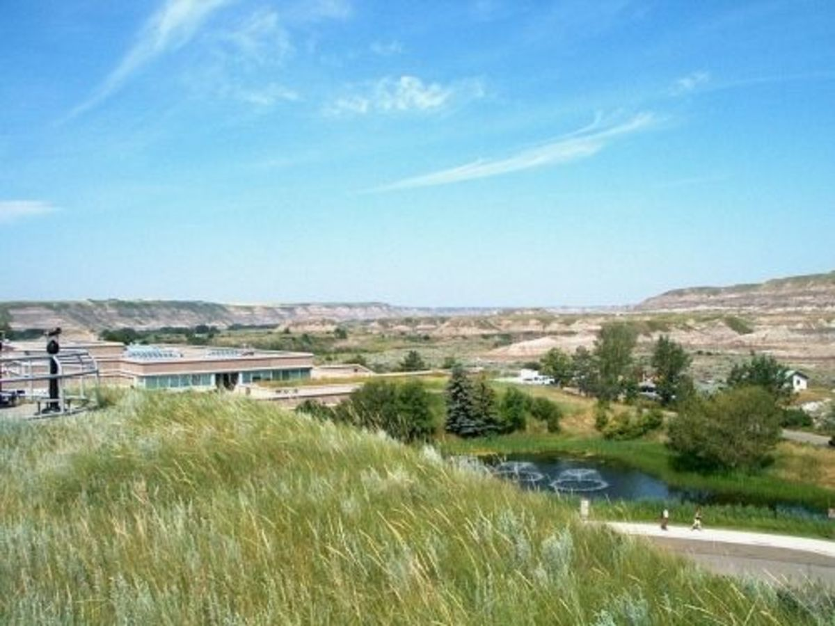 View of the Royal Tyrrell Museum.