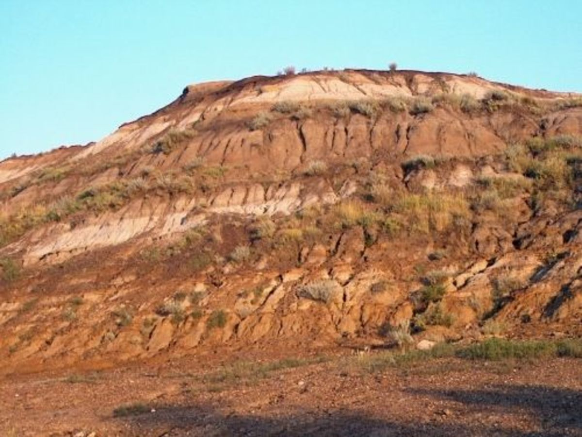 The Badlands landscape.