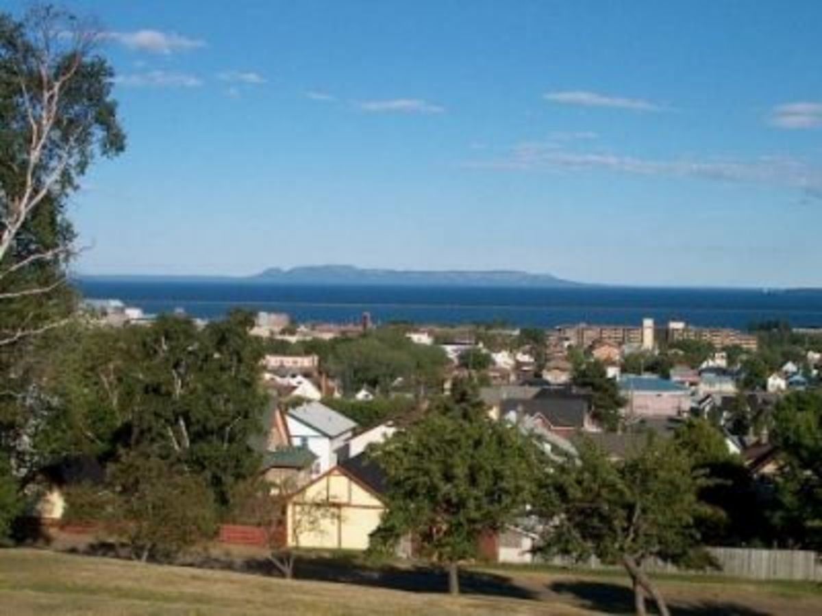 View of Sleeping Giant from Hillcrest Park, Thunder Bay