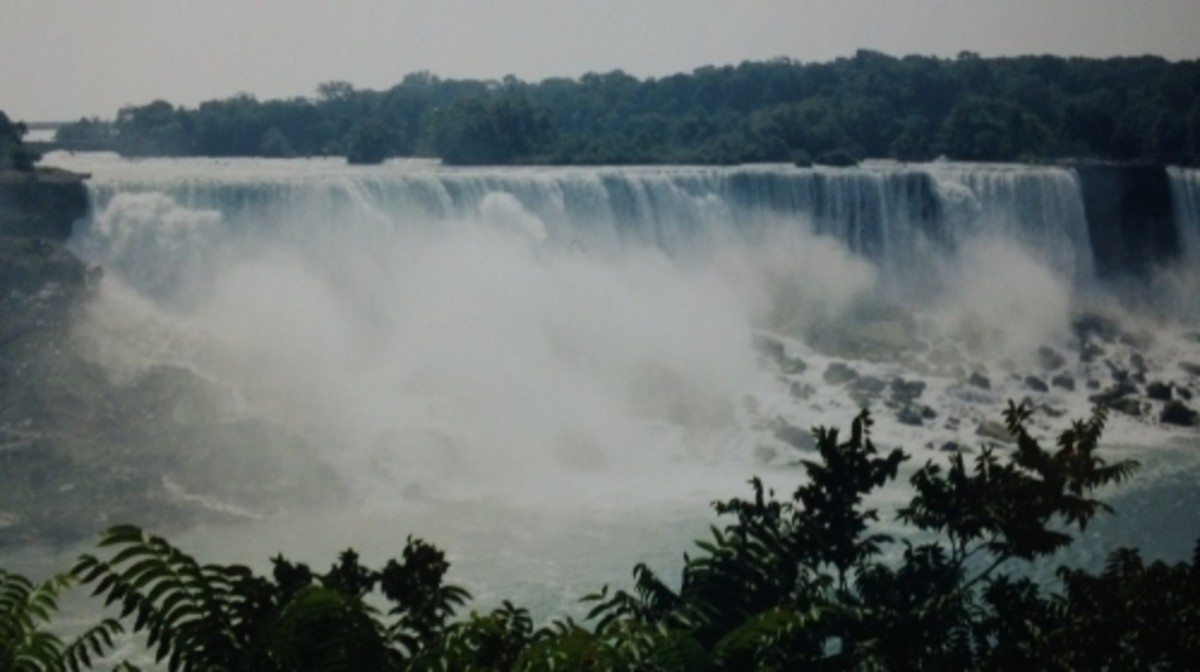The American falls viewed from Niagara Falls, Ontario.