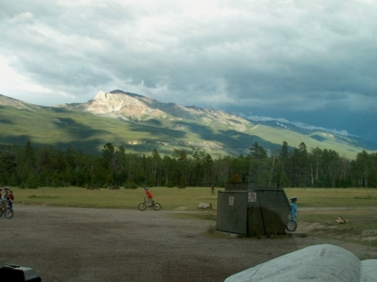 On route to Jasper.