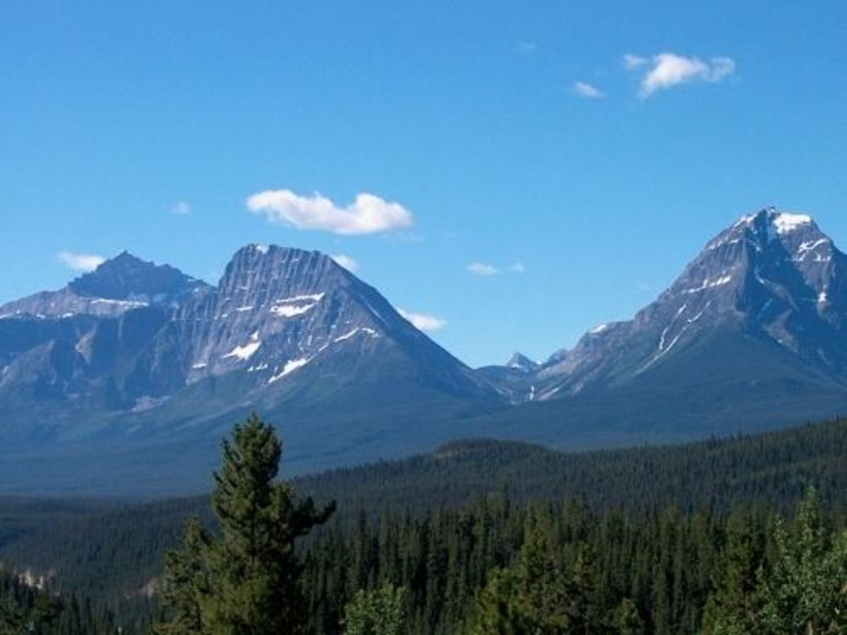 On route to Athabasca Falls.