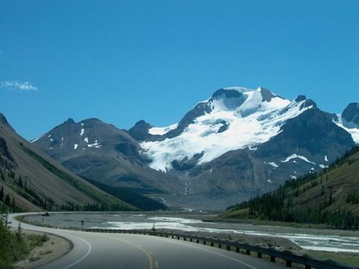 On route to ice field.
