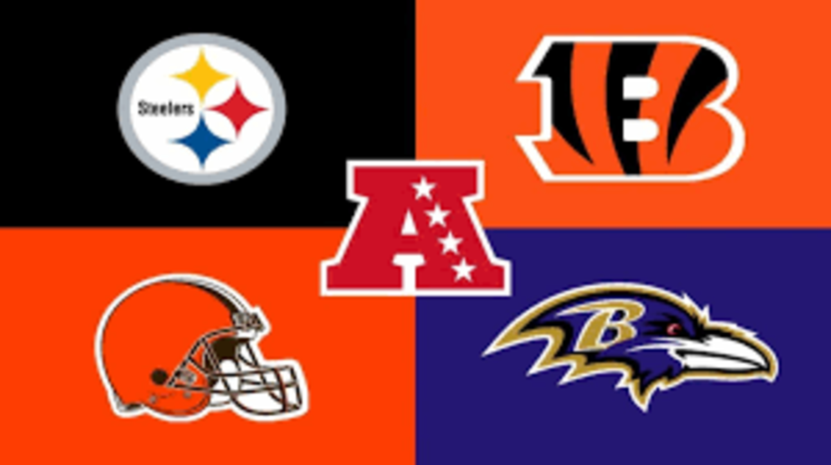 The Steelers won the division last year as the Ravens and Browns finished a game behind while the Bengals finished under .500