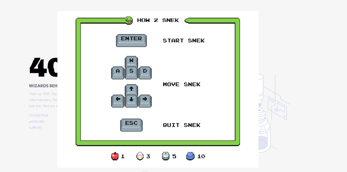 This is the instruction screen which showcases the controls required to play the game.