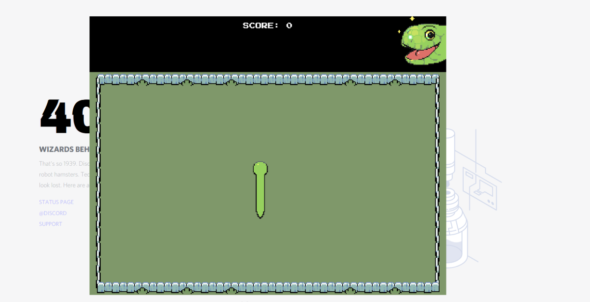 The starting point of the game. Simply click any of the arrow keys to begin.