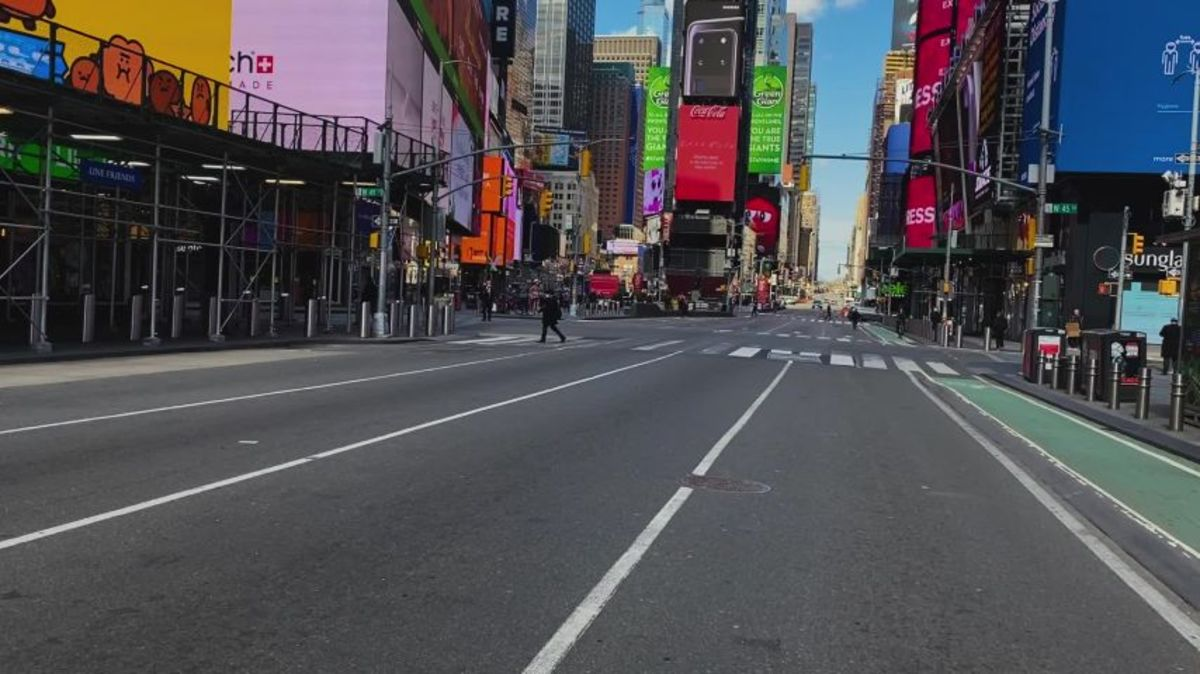 Empty Streets of Manhattan during Covid Lockdown