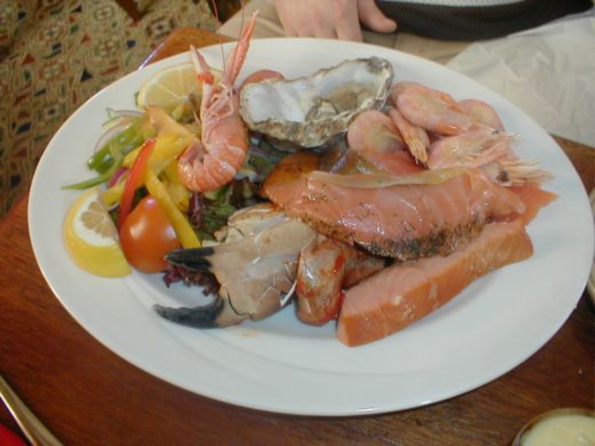 This seafood platter was served up to me in the Port Charlotte Hotel on the Isle of Islay, off the West Coast of Scotland, when I visited for a pub lunch