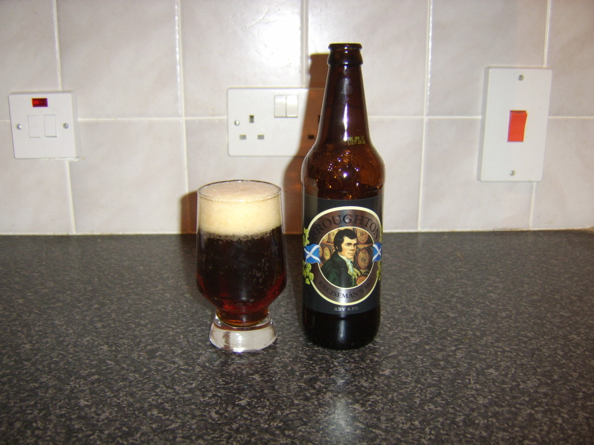 Exciseman's 80 Shilling Ale (Photo is of Robbie Burns)